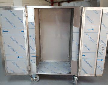 Bioreactor met opengeslagen deuren